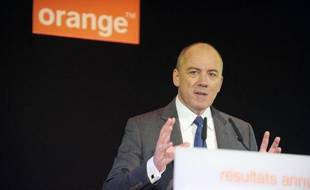 Le patron du groupe Orange, Stéphane Richard, en mars 2014 à Paris