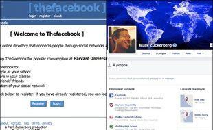 L'évolution de Facebook de 2004 à 2014.