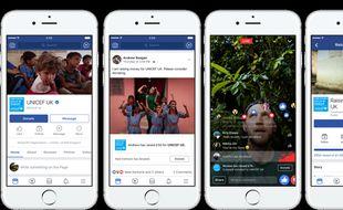 Capture d'écran de la nouvelle fonctionnalité lancée par Facebook le 25 septembre prochain.
