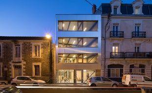 Le bâtiment de l'agence d'architecture DLW à Nantes.