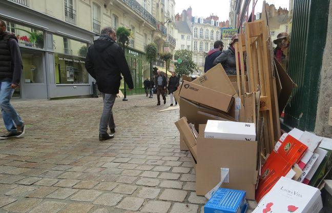 La ville ne veut plus de cartons dans les rues