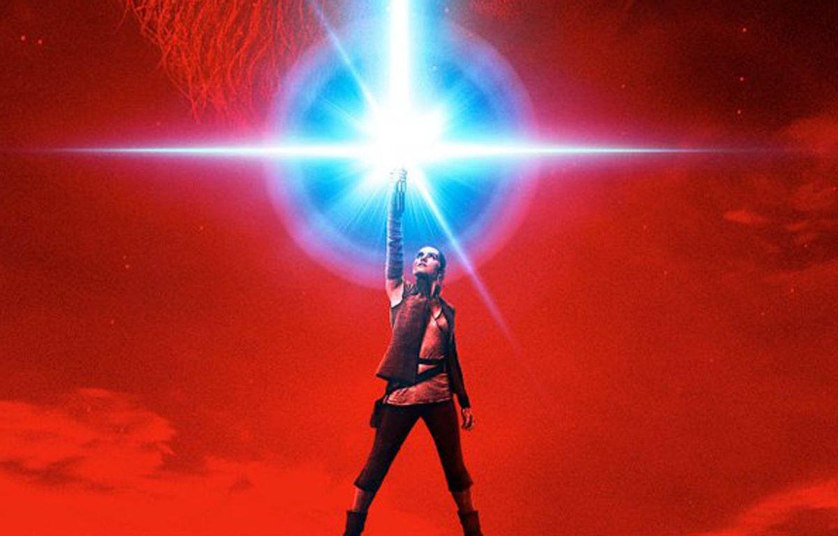 Rey au centre de l'affiche de «Star Wars - Les Derniers Jedi» – Disney