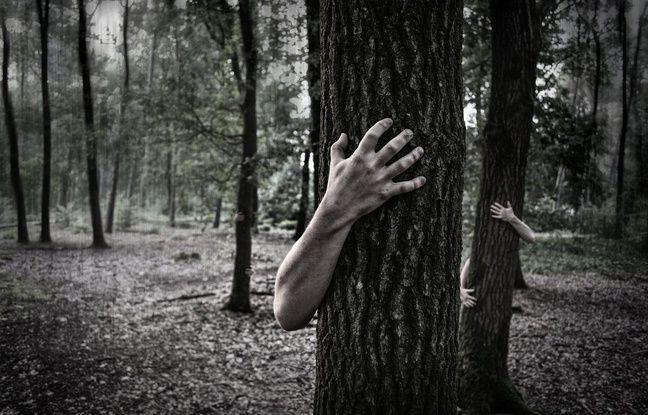 Illustration de peur des esprits revenus pour Halloween.