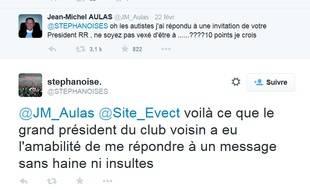 Capture d'écran du Tweet de Jean-Michel Aulas pour lequel des parents d'enfants autistes veulent des excuses du président de l'OL.