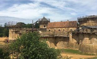 Le chantier de Guédelon le 9 juin 2019