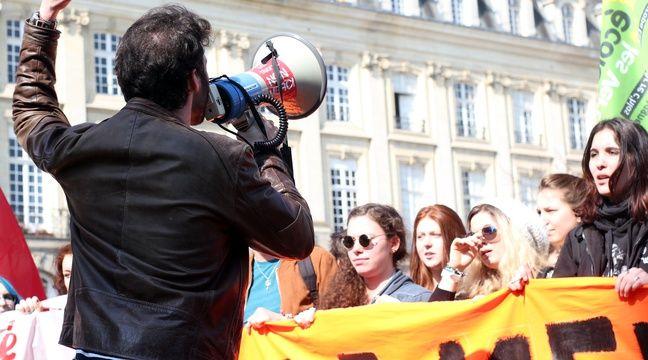 La manifestation avait pourtant commencé dans le calme, ici place du Parlement. – C. Allain / APEI / 20 Minutes