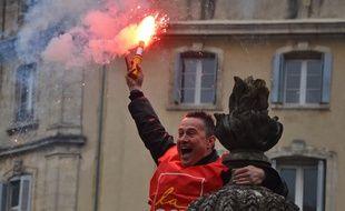 La manifestation contre la loi travail, ce mercredi à Montpellier.
