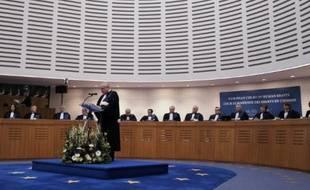 Les juges de la Cour européenne des droits de l'Homme, en janvier 2013