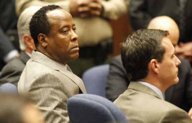 Conrad Murray, le médecin de Michael Jackson, au tribunal de Los Angeles, le 7 novembre 2011, jour du verdict de son procès.