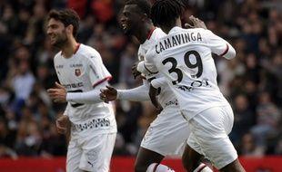 Mbaye Niang, auteur du premier but de Rennes à Toulouse, le 5 mai 2019.