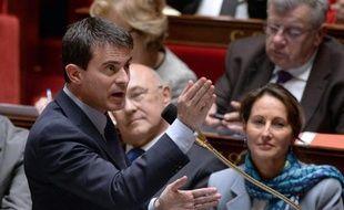 Le Premier ministre Manuel Valls à l'Assemblée nationale le 30 avril 2014