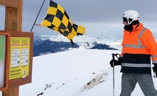 Risque d'avalanche affiché le 7 mars 2013 à Méribel