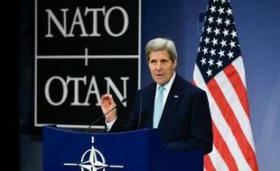 Le secrétaire d'Etat américain John Kerry à Bruxelles le 2 décembre 2015