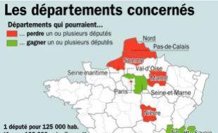 Redécoupage électoral: les départements concernés