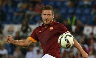 Francesco Totti, le capitaine de l'AS Rome, le 27 septembre 2014 à Rome.