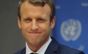 Emmanuel Macron,  le 19 septembre 2017 à New-York au siège des Nations Unies