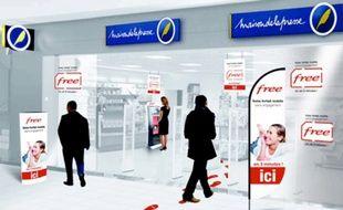 Des distributeurs automatiques de carte SIM Free.