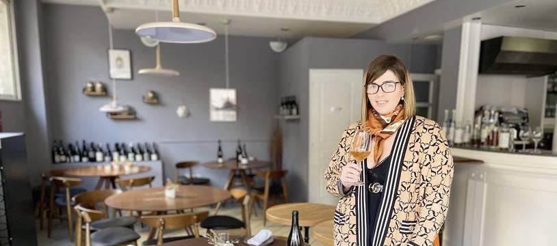 Vanessa Massé, le 19 janvier 2021 dans son restaurant Pure&V à Nice