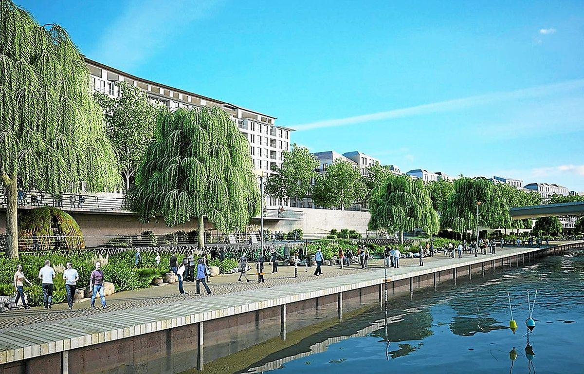 Les bords de Saône seront aménagés en promenade végétale. – Wilmotte et Associés