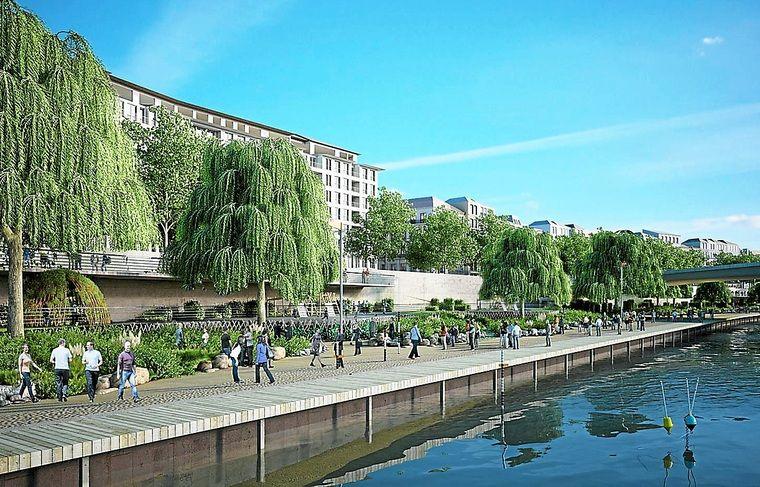 Les bords de Saône seront aménagés en promenade végétale.