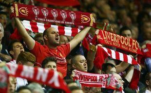 Fans de Liverpool lors du match de Ligue des Champions contre les Bulgares du Ludogorets Razgrad, à Anfield, le 16 septembre 2014.
