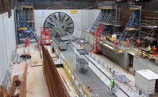 Illustration d'un tunnelier, ici à Rennes.