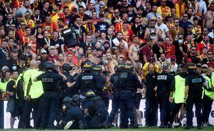 La mi-temps du derby entre Lens et Lille a été émaillée de nombreux incidents, le 18 septembre 2021.