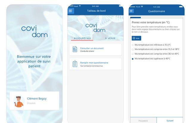 Illustration de l'application Covidom.