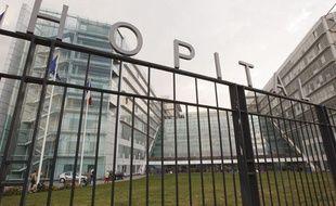 Paris le 27 août 2013. Entrée de l'hôpital européen Georges Pompidou.