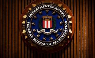 L'emblème de l'agence fédérale américaine (FBI) le 3 août 2007 dans l'immeuble J. Edgar Hoover du FBI à Washington, DC.