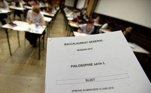 Une salle d'examen du bac à Strasbourg, le 15 juin 2016.