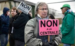 Des opposants au projet de centrale à gaz s'étaient rassemblés en février à Landivisiau, dans le Finistère.