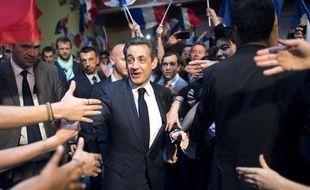Nicolas Sarkozy, lors de son meeting au Raincy, le 26 avril