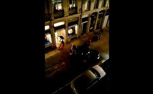 Capture de la vidéo prise par le riverain d'une boutique Vuitton cambriolée à Lille