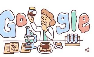 Lucy Wills, illustrée dans le «doodle» de Google le 10 mai, 2019. Elle aurait eu 131 ans ce jour-là.