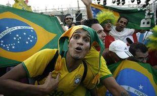 La joie dans les rues de Rio-de-Janeiro. La ville brésilienne a appris qu'elle accueillera les JO 2016, le 2 octobre 2009