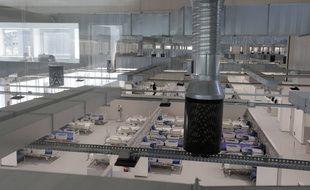 L'hôpital Isabel Zendal à Madrid, surnommé l'hôpital des pandémies, a ouvert ses portes mardi 1er décembre.