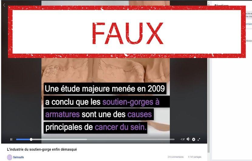 Le soutien-gorge à armatures « une des causes » du cancer du sein? Il n'existe aucune preuve