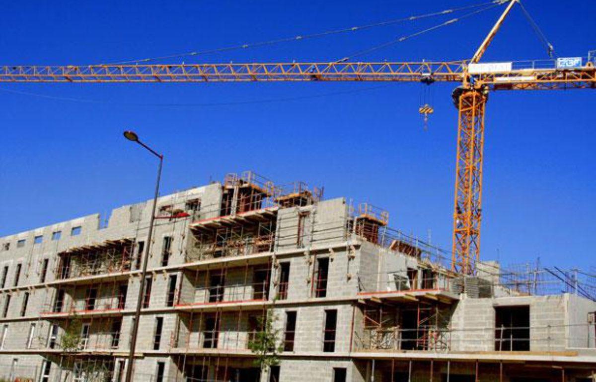 Immeuble d'habitation en construction. Le Mans, mai 2011. – M. GILE/Sipa
