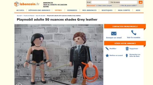 Le Bon Coin Des Playmobil 50 Nuances Of Grey Mis En Vente