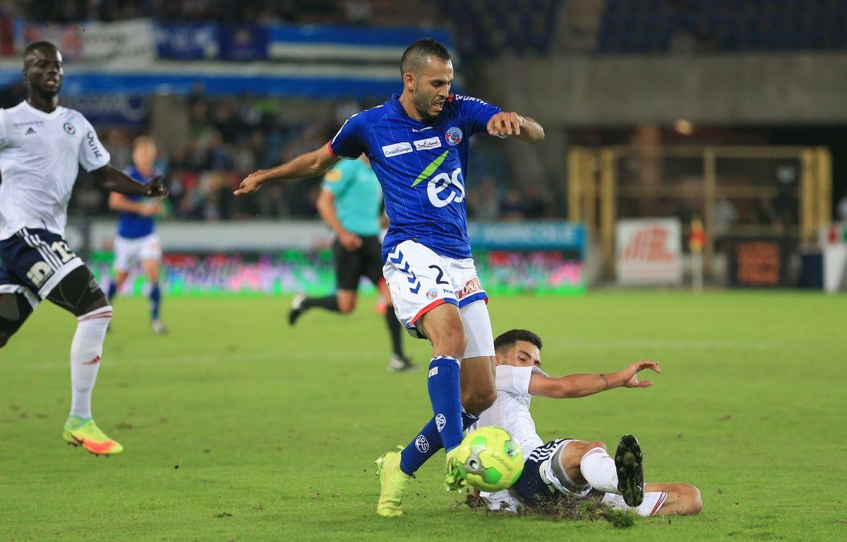Grâce notamment à un doublé de Khalid Boutaïb, le Racing club de Strasbourg s'est imposé au stade de la Meinau lundi face à l'AC Ajaccio (4-2)… – G. Varela / 20 Minutes
