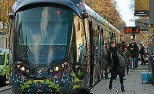 La ligne 3 du tramway de Montpellier.