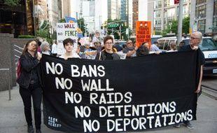 Les défenseurs des droits civiques manifestent régulièrement contre la politique de répression des immigrants de Donald Trump. (illustration)