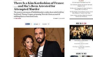 Un article du Vanity Fair américain  consacré à l'affaire Nabilla paru le 13 novembre 2014