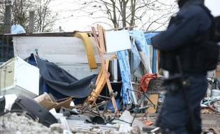 Le camps de Roms qui se trouvait à proximité de la salle de concert Le Transbordeur à Villeurbanne et près de la Cité internationale de Lyon a été évacué mercredi 13 septembre. (illustration)