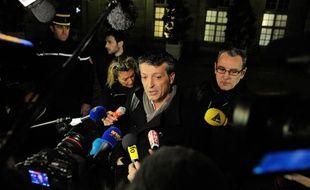 Edouard Martin (Cfdt) à la sortie de Matignon mercredi 5 décembre 2012
