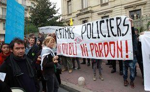 Une mobilisation après la mort de Rémi Fraisse à Montpellier, le 1er novembre 2014.