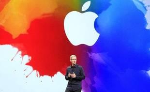 Le PDG d'Apple Tim Cook à San Francisco le 7 mars 2012.