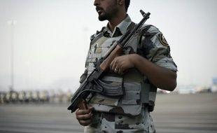 Un membre de la police spéciale saoudienne à la Mecque en Arabie Saoudite, le 17 septembre 2015