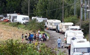 Le camp de Roms dit du Chemin Napoléon, à Hellemmes, près de Lille.
